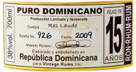 Opthimus Dominicano 15Y