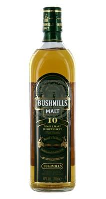 Bushmills single malt whiskey