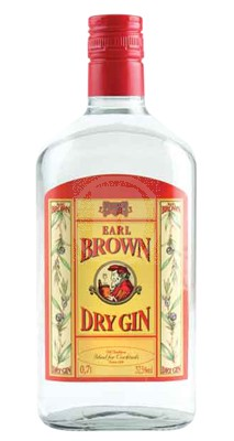 Earl Brown Dry Gin 70 Cl