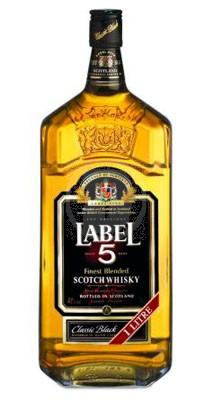 Label 5 scotch whisky flaska