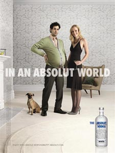 Absolut vodka annons IN AN ABSOLUT WORLD