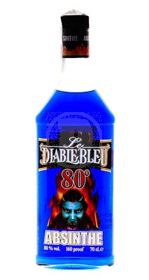 Absinth Le Diable Bleu flaska