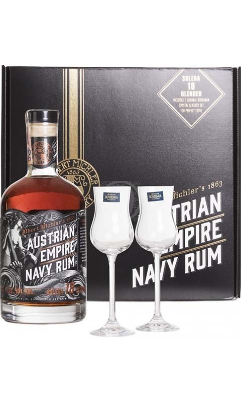 Austrian Empire Navy Rum Solera 18YO + 2 Glas