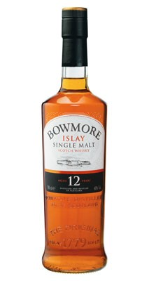 Bowmore whiskey flaska