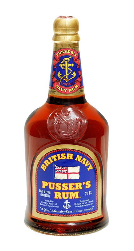 British Navy Pussers Rum