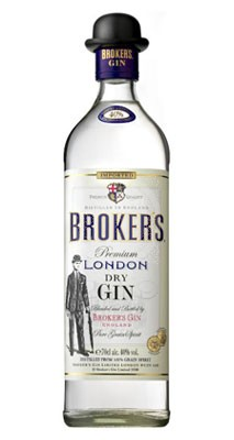 Broker´s gin flaska