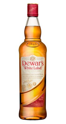 Dewars White Label 18 år flaska