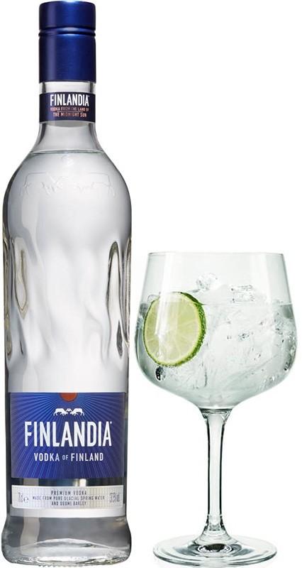 Finlandia Vodka + glas