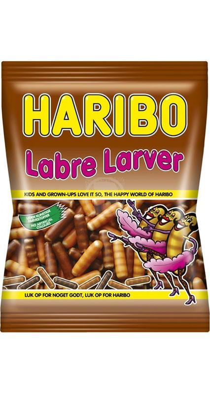 Haribo Labre larver Laku Toukka