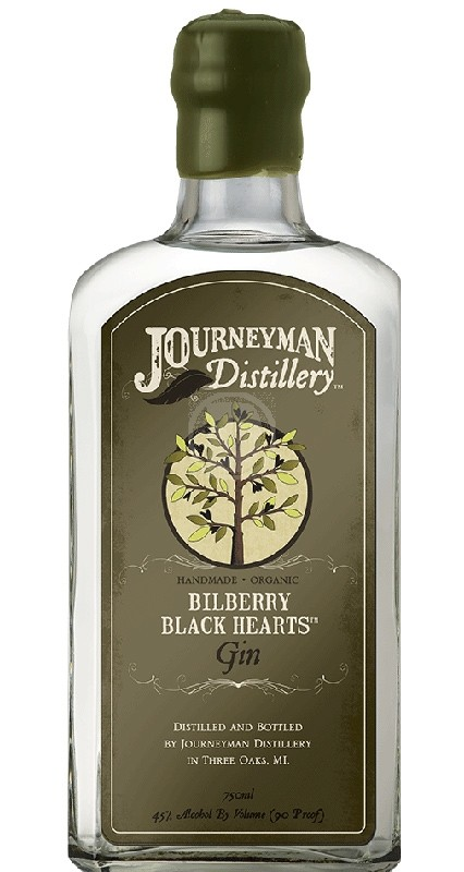 Journeyman Bilberry Black Hearts Gin White
