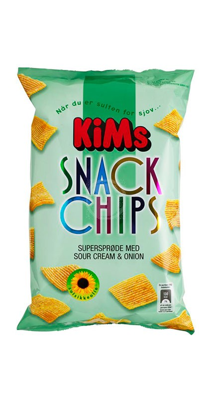 Kims Snack Chips Sour Cream