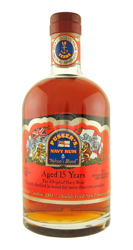 Pussers British Navy Rum 15 Years