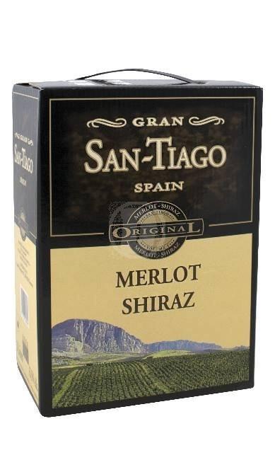 GranSan-TiagoMerlotShiraz3l