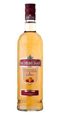 Sobieski Caramel Vodka flaska