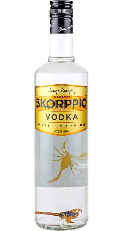 Skorppio Vodka with Skorppio