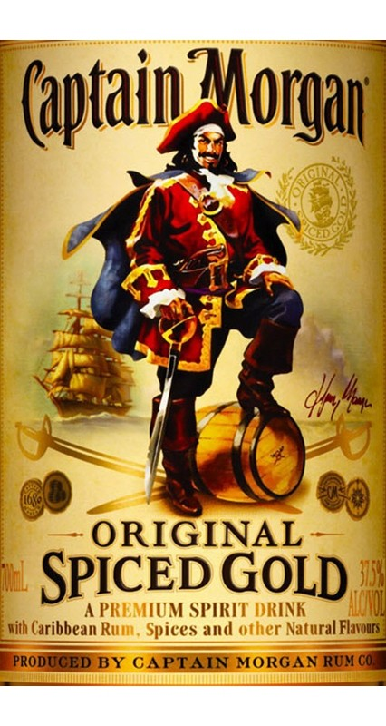 Captain Morgan Etikett