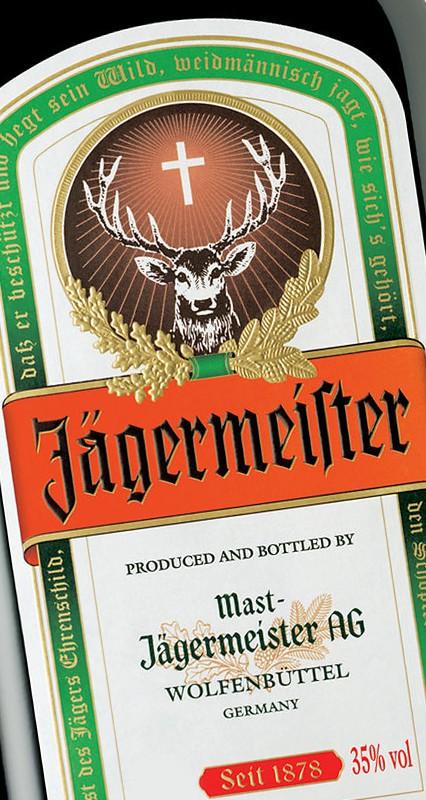 Jägermeister etikett