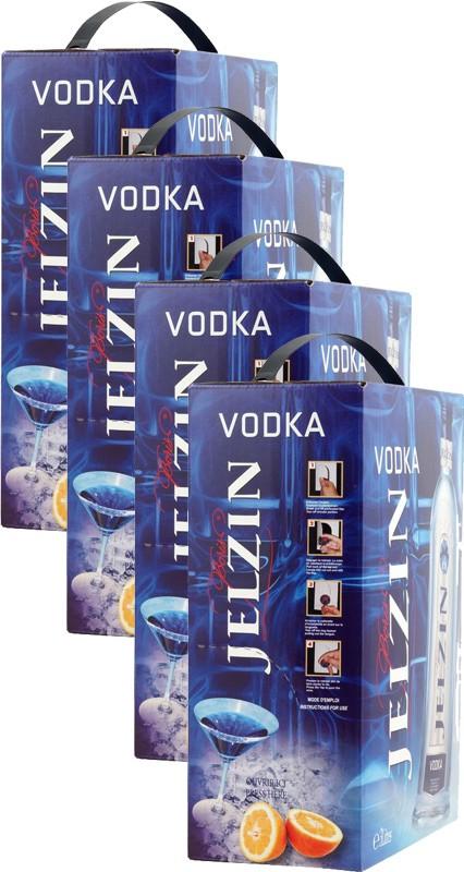 Jelzin vodka BIB 4 - Pack