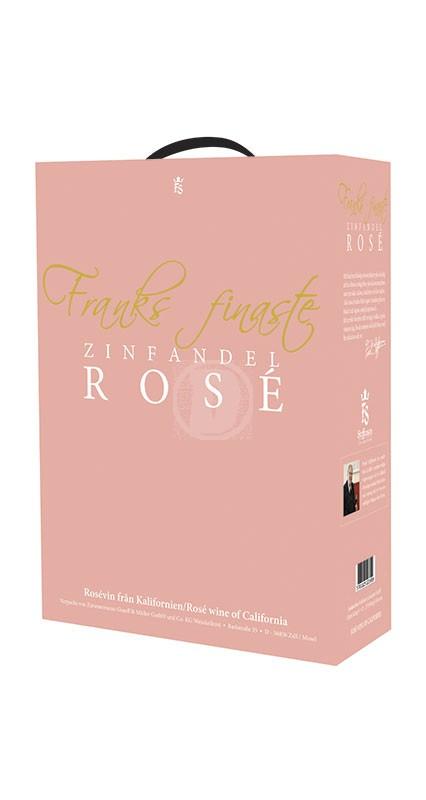 Franks finaste Zinfandel Rose 3 liter