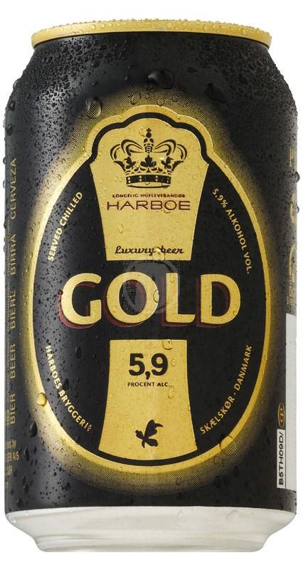 Harboe Gold 33 cl burk