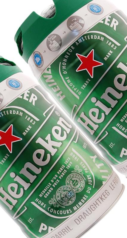 2-Pack Heineken ölfat