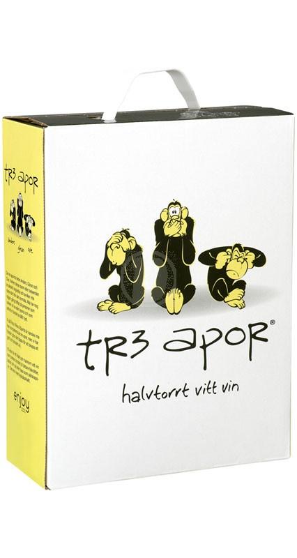 Tre apor Vitt 3 liter