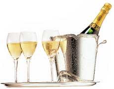 Champagne till nyår