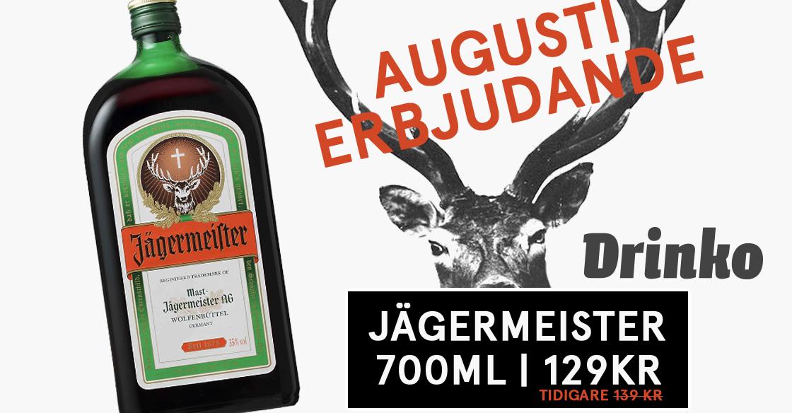 Augustierbjudande på Jägermeister